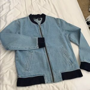 American Apparel denim jacket with knit cuffs
